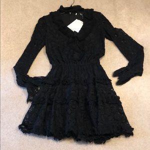 Alexis black lace dress XS